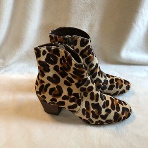 Boden Animal Print Ankle Boots